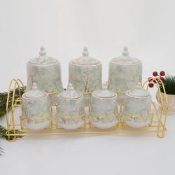 acar - 7 li Porselen Baharat Seti ORNBT02