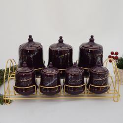 acar - 7 li Porselen Baharat Seti ORNBT05