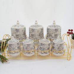 acar - 7 li Porselen Baharat Seti ORNBT06