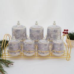 acar - 7 li Porselen Baharat Seti ORNBT07