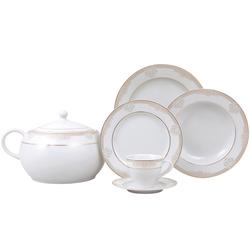 Güral Porselen - Yemek Takımı Güral Porselen <br> 84 Parça 12 Kişilik <br> Tolstoy Yuvarlak <br> TLS84YT9305715