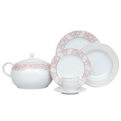 Güral Porselen - Yemek Takımı Güral Porselen <br> 84 Parça 12 Kişilik <br> Tolstoy Yuvarlak <br> TLS84YT9305728