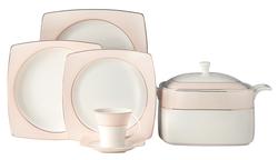 Güral Porselen - Yemek Takımı Güral Porselen <br> 85 Parça 12 Kişilik <br> Caroline Kare Bone<br> GBSCR85KYT8305431