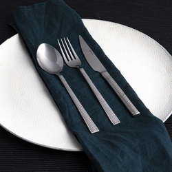 Güral Porselen - Güral Çelik Çatal Bıçak Kaşık Seti <br> 12 Kişilik 85 Parça <br> GRL84CBTYKN