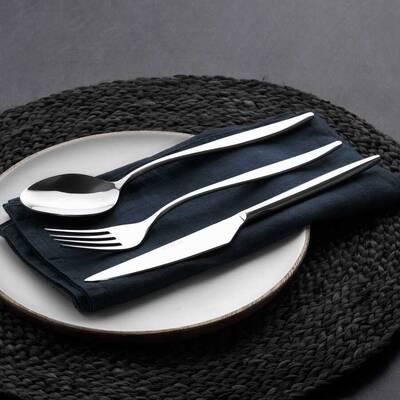 Güral Çelik Çatal Bıçak Kaşık Seti <br> 12 Kişilik 85 Parça <br> GRL84CBTYSY