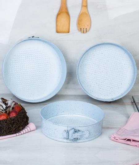 Acar Home - ACAR Cuff Kelepçeli 3lü Kek Kalıbı Beyaz 010050