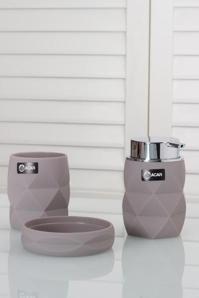 Acar Home - Banyo Seti 3 lü Kristal Model