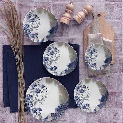 Yemek Seti Güral Porselen <br> 24 Parça 6 Kişilik Digibone Rodin <br> Asimetrik Yemek Takımı <br> GBSRD24Y4101856