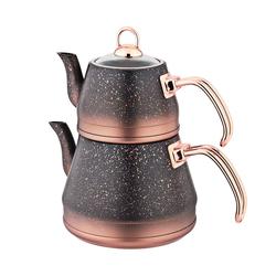 Oms - OMS Granit <br> Çaydanlık Takımı <br> Bakır Medium 8200