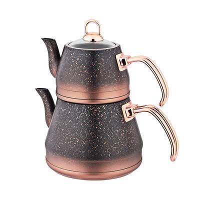 OMS Granit <br> Çaydanlık Takımı <br> Bakır Medium 8200