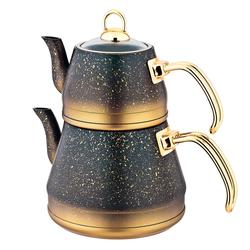 Oms - OMS Granit <br> Çaydanlık Takımı <br> Bakır Gold X-Large 8200