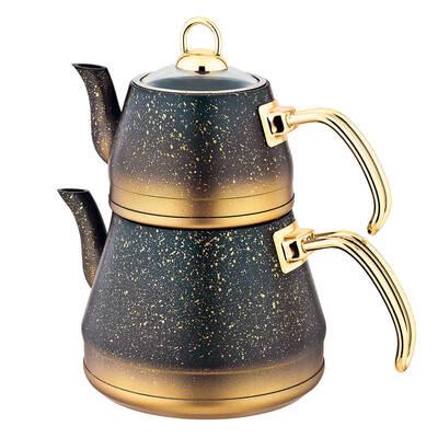 OMS Granit <br> Çaydanlık Takımı <br> Bakır Gold X-Large 8200