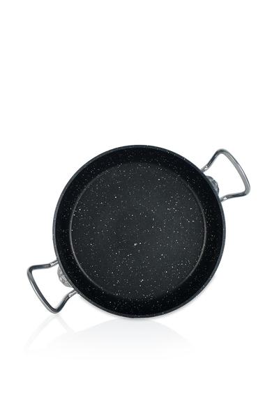 Acar Home - Granit omlet tavası çift kulp 24 cm siyah