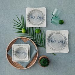 Güral Porselen - Yemek Seti Güral Porselen <br> 24 Parça 6 Kişilik Digibone Spinoza <br> Kare Yemek Takımı <br> GBSSPN24Y41018902