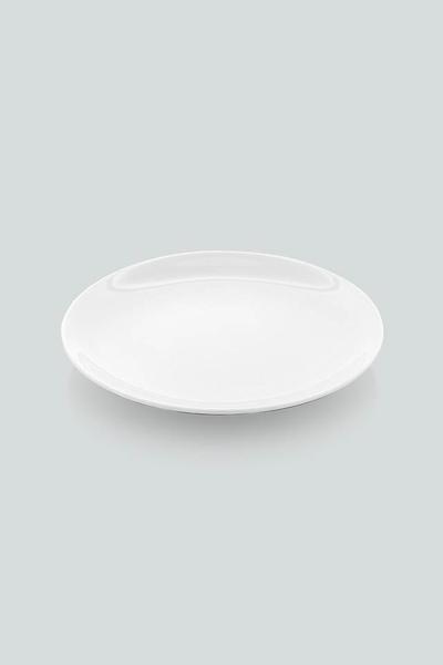 Güral Porselen - Güral Porselen 6 lı Servis Tabağı Beyaz <br> 25 cm EO25DU00