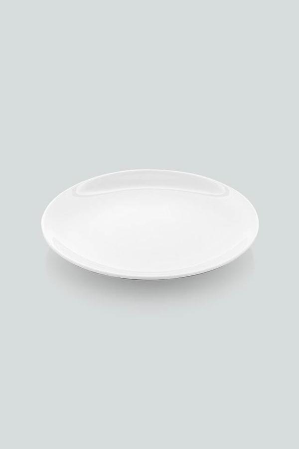 Güral Porselen 6 lı Tatlı Tabağı <br> 17 cm Beyaz <br> EO17DU00