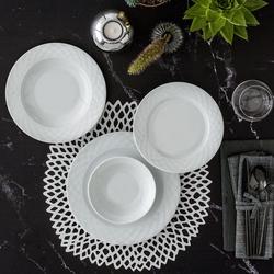 Güral Porselen - Güral Porselen <br> Alfa 24 Parça 6 Kişilik Yemek Seti <br> ALF24Y400
