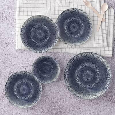 Yemek Seti Güral Porselen <br> 24 Parça 6 Kişilik Digibone Atina <br> Yuvarlak Yemek Takımı <br> GBSATN24Y101622