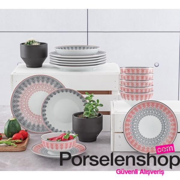 - Güral Porselen Atina 24 Parça Yemek Seti