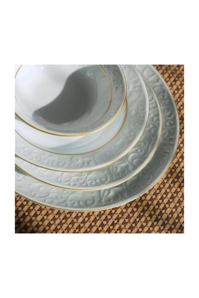 Güral Porselen - Güral Porselen Bahar Dalı Altın File 24 Parça Yemek Takımı Bhd24y423
