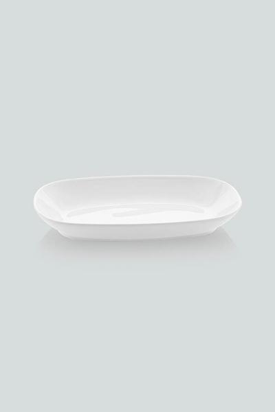 Güral Porselen - Güral Porselen Kayık Tabak 6 lı <br> 19 cm <br> Desensiz <br> EO19KY00