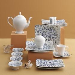 Güral Porselen - Güral Porselen Kahvaltı Takımı <br> 36 Parça 6 Kişilik Spinoza Kare<br> GBSSPN36KH101745