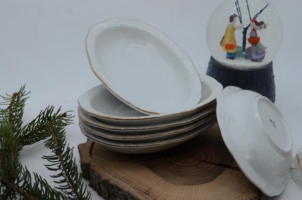 İpek Porselen - Kahvaltılık Çerezlik Porselen Tabak-1