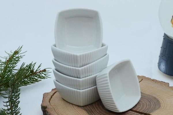 İpek Porselen - Porselen Reçellik Kare Kase
