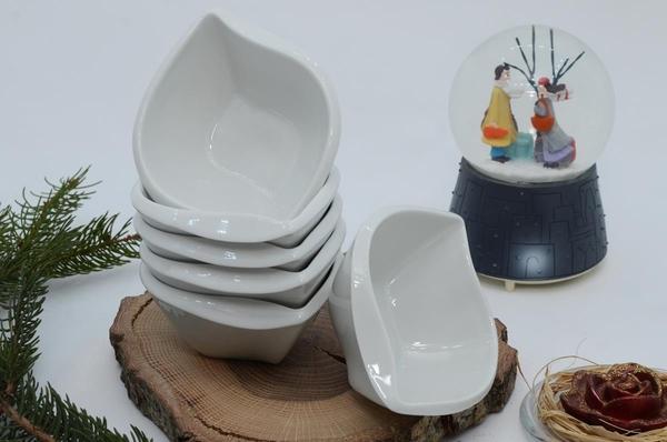 İpek Porselen - İpek Porselen 6 lı Oval Çerezlik