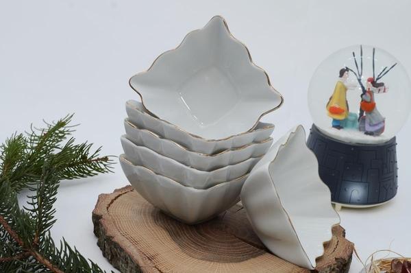 İpek Porselen - Kahvaltılık Kare Porselen Tabak 6 lı