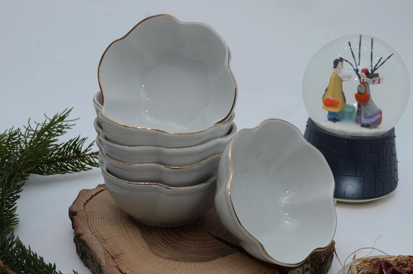 İpek Porselen - Porselen Kahvaltılık Kase 6 lı
