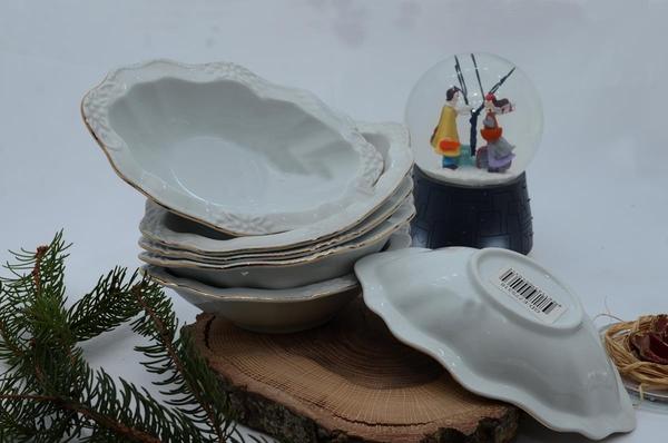 İpek Porselen - Kahvaltılık Çerezlik Porselen Tabak-3