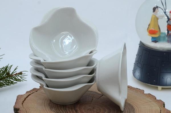 İpek Porselen - Kahvaltılık Çerezlik Porselen Kare DalgalıTabak 6 lı