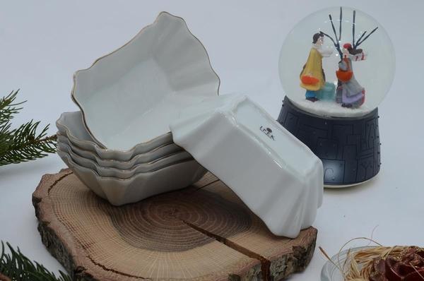 İpek Porselen - Kahvaltılık Çerezlik Porselen Tabak 6 lı