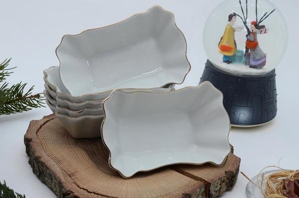İpek Porselen - Kahvaltılık Çerezlik Porselen Tabak-