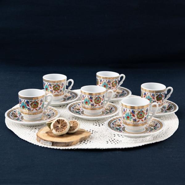 Güral Porselen - Kahve Takımı 6 lı Güral Porselen <br> SF12CKT084543