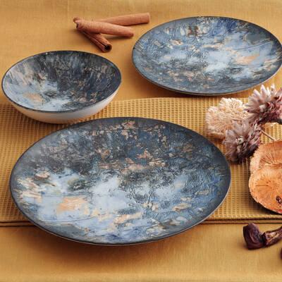 Yemek Seti Güral Porselen <br> 24 Parça 6 Kişilik Digibone Atina <br> Yuvarlak Yemek Takımı <br> GBSATN24Y4101607