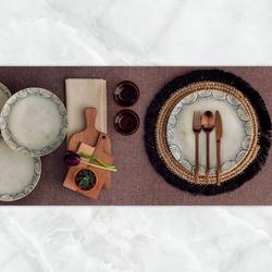 Güral Porselen - Yemek Seti Güral Porselen <br> 24 Parça 6 Kişilik Digibone Atina <br> Yuvarlak Yemek Takımı <br> GBSATN24Y4101375