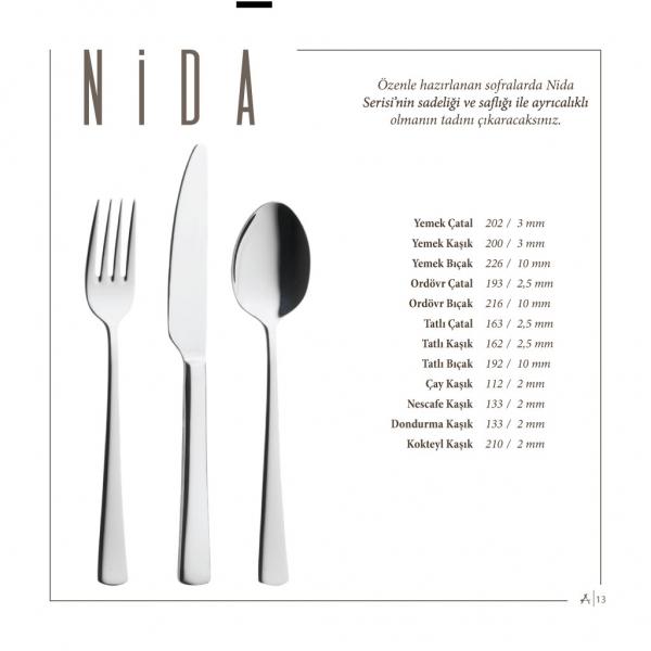 lugga - Nida 36 Parça 6 Kişilik Çatal Kaşık Bıçak