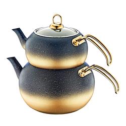Oms - OMS Granit <br> Çaydanlık Takımı <br> Küre Gold Large