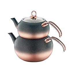 Oms - OMS Granit <br> Küre Çaydanlık Takımı <br> Bakır Medium