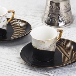 Acar Home - Porselen 6 Lı Kahve Fincan Takımı <br>ZNH-9482
