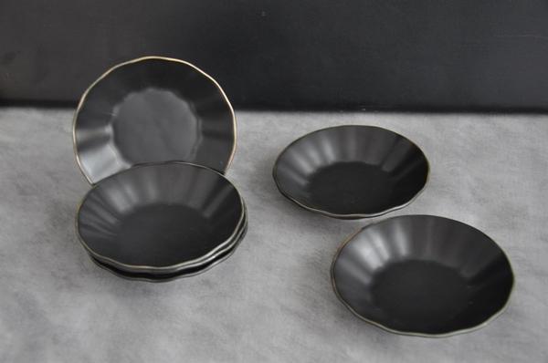 Paçi - Porselen Çay Tabağı 6 lı Siyah