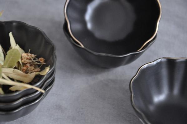 Paçi - Porselen Çerezlik Siyah 6lı marul