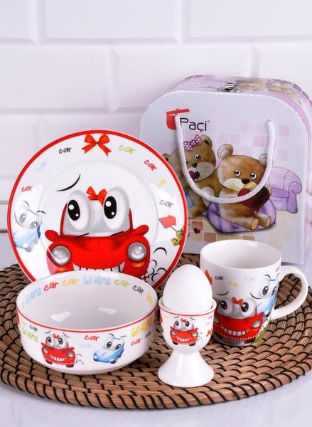 Paçi - Porselen Çocuk Kahvaltı Takımı