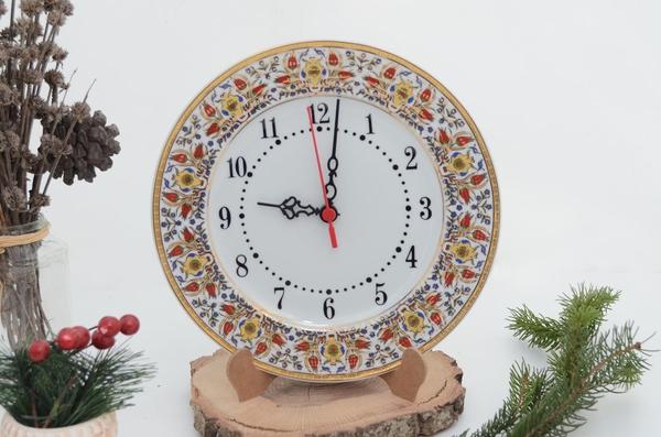 porselenshop - Porselen Duvar Saati Yaldızlı