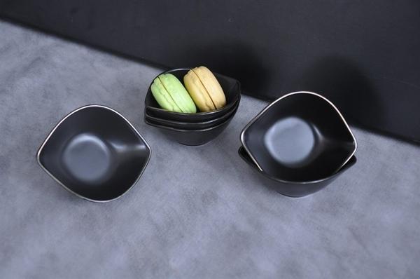 Paçi - Porselen Kahvatılık Oval 6lı siyah