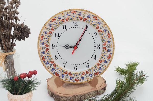 porselenshop - Porselen saat Altın Yaldızlı