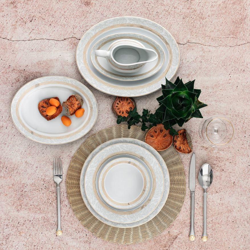 Porselen Yemek Takımı 12 Kişilik <br> Güral TLS84YT9405574