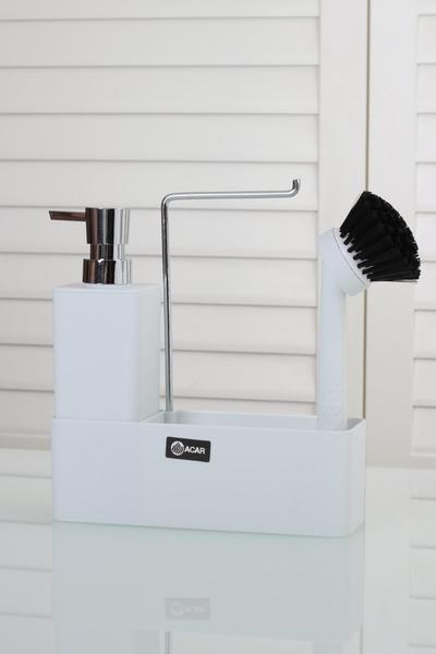 Acar Home - Sıvı Sabunluk Fırçalı Kare Model